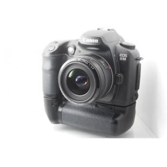 【中古 保証付 送料無料】Canon デジタル一眼レフカメラ EOS D30 バッテリーグリップ付き レンズキット EF28mm F2.8 / 一眼レフカメラ