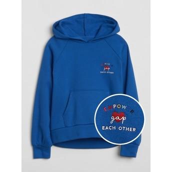 Gap ロゴ パーカー スウェットシャツ(フリース)
