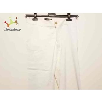 トルネードマート パンツ サイズ38 M レディース 美品 白×ライトブラウン ストライプ スペシャル特価 20190523