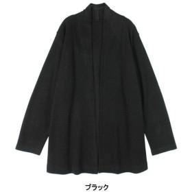カーディガン レディース カットソー ニットソーカーディガン LL〜5L  「ブラック」