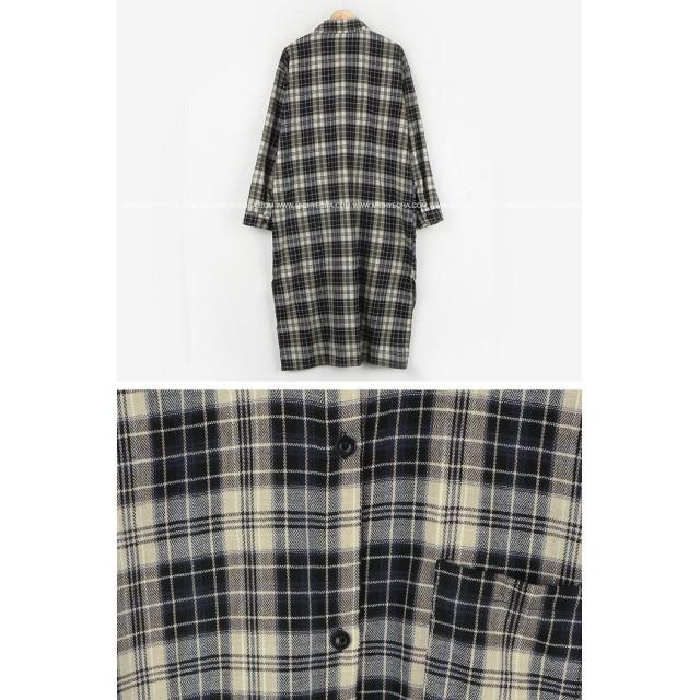 0993e794389d8 ワンピース - NOWiSTYLE MICHYEORA(ミチョラ)チェックロングワンピース 韓国韓国ファッション ワンピース チェックシャツ