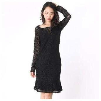 ゲス GUESS DEBBIE DRESS (JET BLACK W/ FROST GREY)