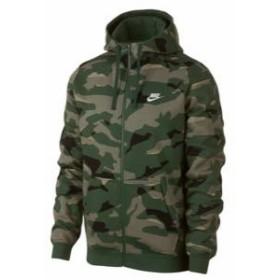 ナイキ メンズ パーカー Nike Club Camo Full-Zip Hoodie フルジップ フーディー Cargo Khaki/Cargo Khaki/White