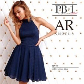 AngelR ドレス エンジェルアール キャバドレス ナイトドレス ミニドレス ダークブルー 紺 7号 S 8328-AR クラブ スナック キャバクラ パ
