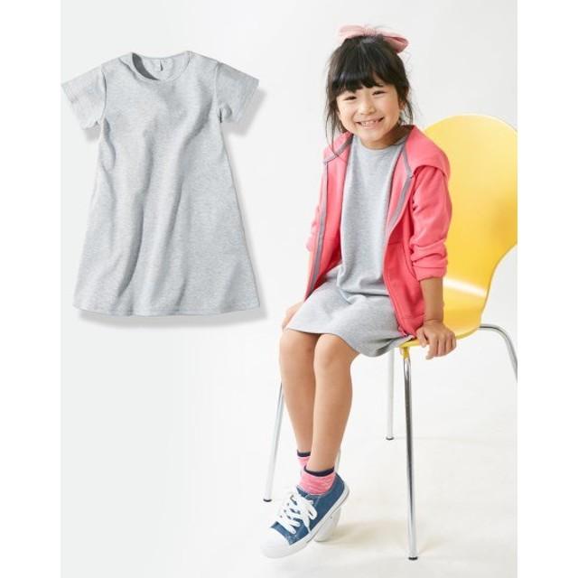 半袖Tワンピース(女の子 子供服)ポケット付 ワンピース