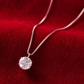 【鑑定書付】Pt0.6ctダイヤモンドペンダント レディース