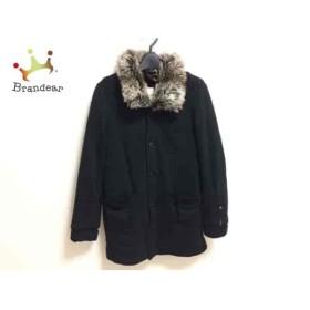 ディーゼル DIESEL コート サイズXS メンズ 黒×ライトブラウン×マルチ フェイクファー/冬物       スペシャル特価 20190304