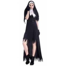 修道女 ハロウィン 衣装 仮装衣装 コスプレ コスチューム 大人用 女性用 レディース パーティーグッズ シスター 修道服