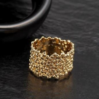 結婚披露宴のギフト 指輪 木の皮の形 女性の宝石 金色 サイズ7