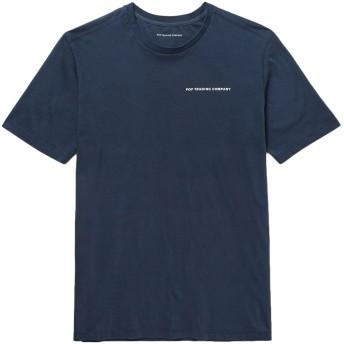 《セール開催中》POP TRADING COMPANY メンズ T シャツ ダークブルー S コットン 100%