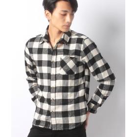 【56%OFF】 LiFESiZE ネルチェックシャツ メンズ オフホワイト系 XL 【LiFESiZE】 【セール開催中】