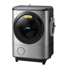日立 BD-NX120CL ステンレスシルバー ヒートリサイクル 風アイロン ビッグドラム [ななめ型ドラム式洗濯乾燥機 (洗濯12.0kg/乾燥6.0kg) 左開き] 洗濯機