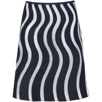 《セール開催中》TIZIANO GUARDINI レディース ひざ丈スカート ブルー 44 テンセル 100%