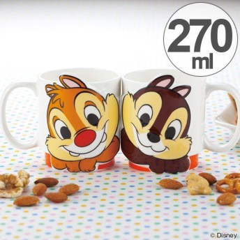 マグカップ ペア チップ&デール LOVE セット 磁器 食器 キャラクター ( 食洗機対応 コップ 電子レンジ対応 マグ カップ 大人 子供 )