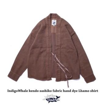 メンズ 草木染め シャツ Flanel Lhamo shirt