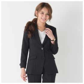 【事務服。ベストスーツ】洗える防汚加工ロング丈ジャケット(消臭テープ付)(上下別売り) (大きいサイズレディース)事務服,women's suits ,plus size