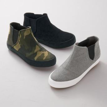 【格安-子供用靴】ジュニアサイドゴアインヒールスニーカー