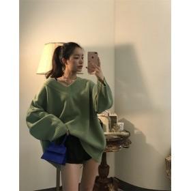 2018 ルーズ ゆったり ニット セーター 大人気 全3色 秋夏 新作