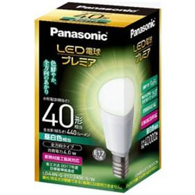 調光器非対応LED電球 「LED電球プレミア」(小型電球形・全光束440lm/昼白色相当・口金E17) LDA4NGE17Z40ESW