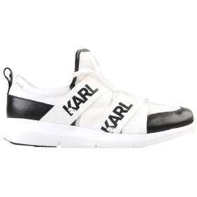 《期間限定セール開催中!》KARL LAGERFELD レディース スニーカー&テニスシューズ(ローカット) ホワイト 40 紡績繊維
