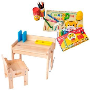 【送料無料】お絵描きや工作が大好きに!文具&木製デスク&チェア セット たまひよSHOP