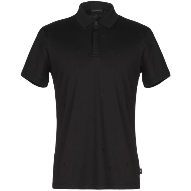 《9/20まで! 限定セール開催中》EMPORIO ARMANI メンズ ポロシャツ ブラック S コットン 100%