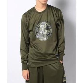 (セール)Number(ナンバー)バスケットボール メンズ 長袖Tシャツ 長袖ゲームシャツ NB-F18-003-001 メンズ カーキ