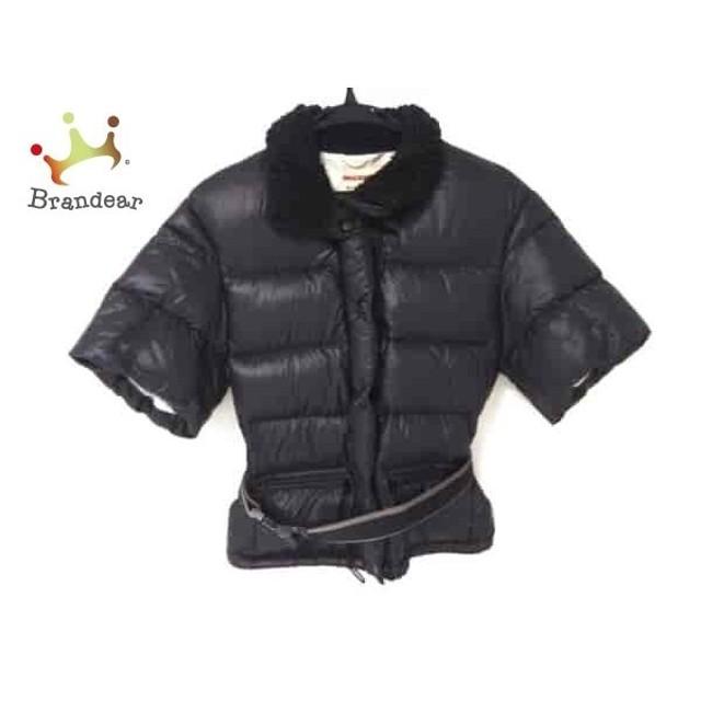 f935bfc9e0a99 プラダスポーツ PRADA SPORT ダウンジャケット レディース 美品 黒 半袖 スペシャル特価 20190304