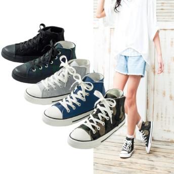 【格安-子供用靴】ジュニアハイカットスニーカー