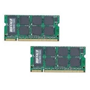 バッファロー(BUFFALO) A2/N800-1GX2(Mac用DDR2 S.O.DIMM/1GB×2枚) [振込不可]