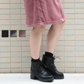 ブーツ - NOFALL サイドジップショートブーツ サイドジップ シューズ レディース ブーツ ショートブーツ 厚底 おしゃれ 可愛い 黒 ブラック ブラウン NOFALL SANGO ノーフォール サンゴ