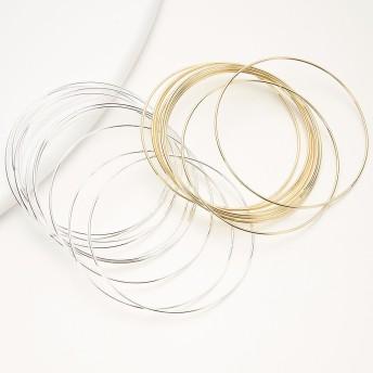 ブレスレット・バングル - アクセサリーショップPIENA ブレスレット レディース 10本セット 細身 シンプル メタル シルバー ゴールド カジュアル 大人かわいい 腕輪 デイリーモード綺麗系 ぬけ感 クール 金 銀