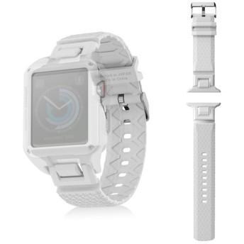 ELECOM AW-42BDZEROWH Apple Watch 42mm ZEROSHOCKバンド ホワイト その他アクセサリ (スマートフォン・iPhone)