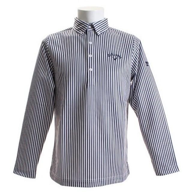 キャロウェイ(CALLAWAY) ゴルフウェア ストライププリント裏起毛 ボタンダウンカラーシャツ 241-8256505-120 (Men's)