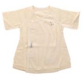 【メール便(10)】 (犬印)INUJIRUSHI Baby フライスボーダー短肌着 ベビー肌着 日本製 綿100% レディース