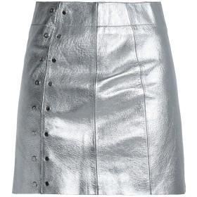 《セール開催中》VEDA レディース ミニスカート シルバー 0 羊革(ラムスキン) 100%