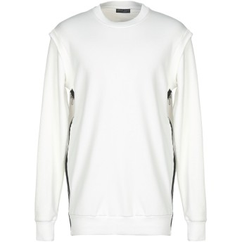 《セール開催中》DARK LABEL メンズ スウェットシャツ アイボリー L コットン 100%