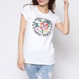 Tシャツ - GUESS【WOMEN】 [GUESS] FLORAL BLING R3 S/S TEE