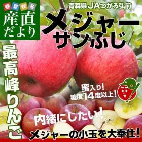 青森県より産地直送 JAつがる弘前 サンふじ「メジャー」 約3キロ(小玉13玉) 送料無料 冬ギフト