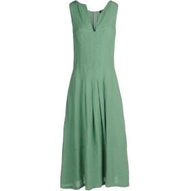 《セール開催中》ASPESI x AL DUCA D'AOSTA レディース 7分丈ワンピース・ドレス グリーン 40 麻 100%