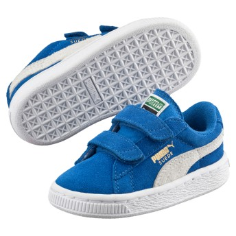 【プーマ公式通販】 プーマ スウェード 2ストラップ PS ユニセックス Snorkel Blue-Puma White  BOYS PUMA.com