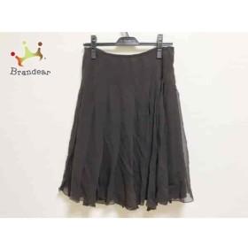 アドーア ADORE スカート サイズ38 M レディース 美品 ダークブラウン プリーツ           スペシャル特価 20190801