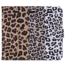 iPhone6/6S 4.7インチ ケース カバー アイフォン6 手帳型 かわいい 豹柄 ヒョウ柄 レオパード アニマル カード収納 全3色