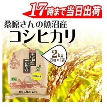 お米 2kg 安心・安全特別栽培米桑原さんの魚沼産コシヒカリ2kg 30年産