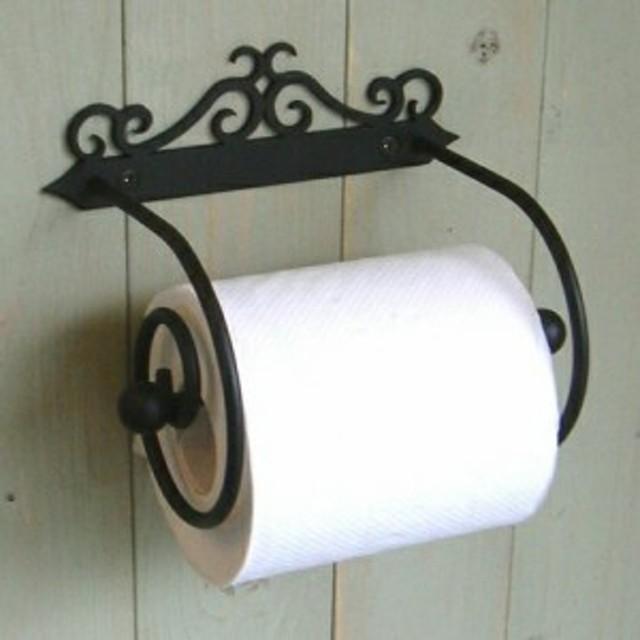ペーパーホルダー B アイアン トイレ トイレットペーパーホルダー おしゃれ 壁 洗面 トイレ