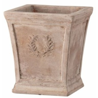 プランター 大型 植木鉢 長方形 テラコッタ 鉢 陶器鉢 おしゃれ アンティーク 風 ローレル スクエアー アンティコ 幅270×奥行270×高さ2