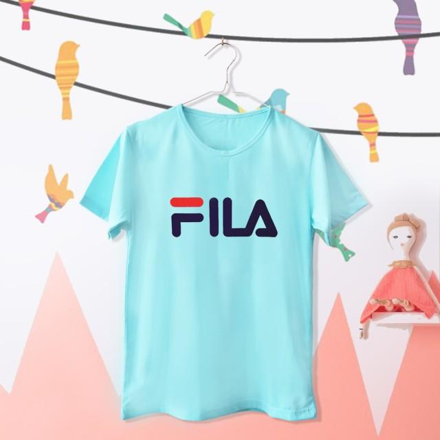 Tumblr Tee / T-Shirt / Kaos Wanita Lengan Pendek Fila Warna Tosca: Rp