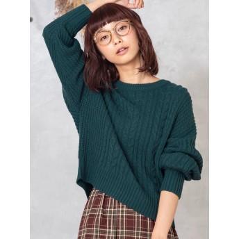 ニット・セーター - WEGO【WOMEN】 ケーブルニット BS18WN10-L001