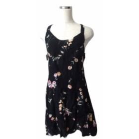 【新品】 MORGAN モルガン フランス製 フラワーキャミワンピース (花柄 ドレス 黒) 116643