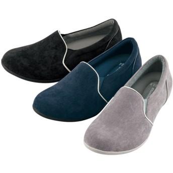 【格安-女性靴】レディース立体カップインソール付インヒールカジュアルシューズ